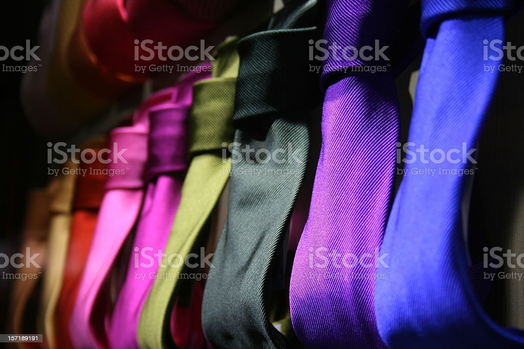 acid colour ties royalty-free stock photo