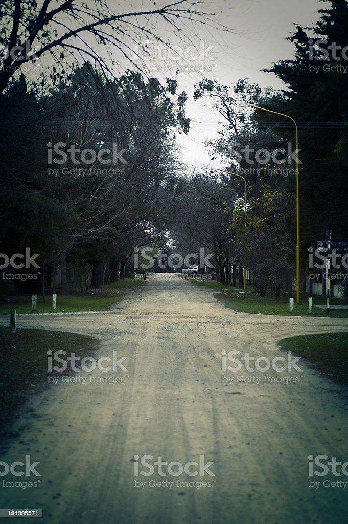 acidify wooden crossroads royalty-free stock photo