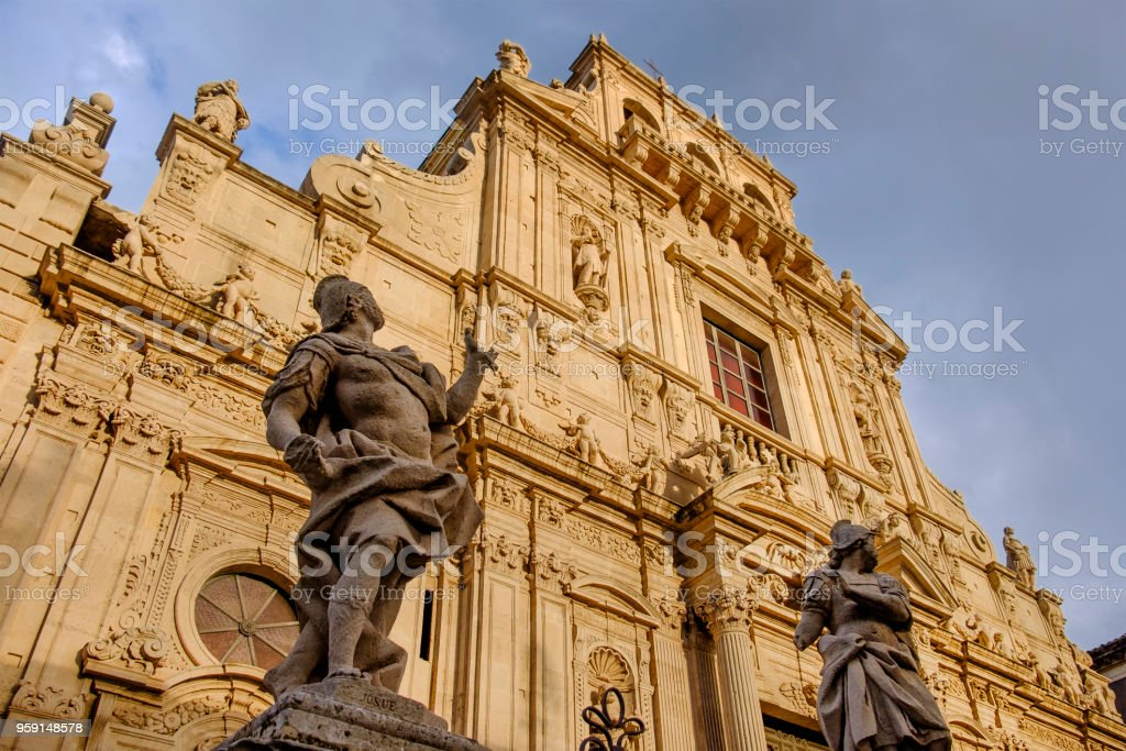 Acireale, Basilica of San Sebastiano - Sicily, Italy - foto stock