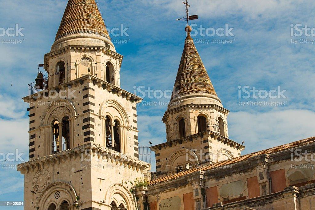 Acireale, Italia:  Chiesa di San Sebastiano centro storico - foto stock