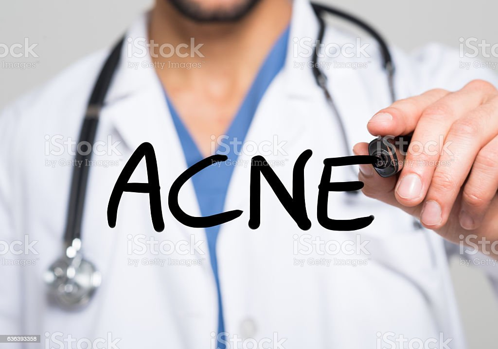 Acne medical concept - foto stock