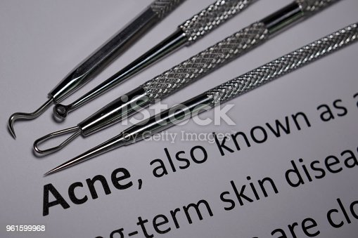 Tools used to physically remove/drain pimples and other skin disorders.