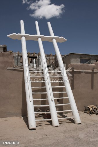 Acoma Pueblo ladder in NM.