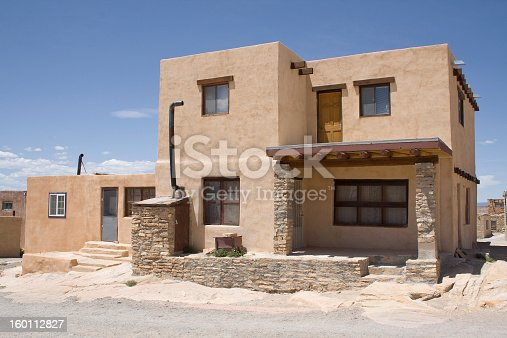 Home at Acoma Pueblo at Sky City in New Mexico.