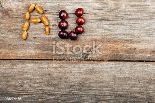 istock acorn chestnut sharp table 1055274466