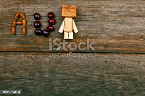 istock acorn chestnut sharp table wooden toy 1055274474