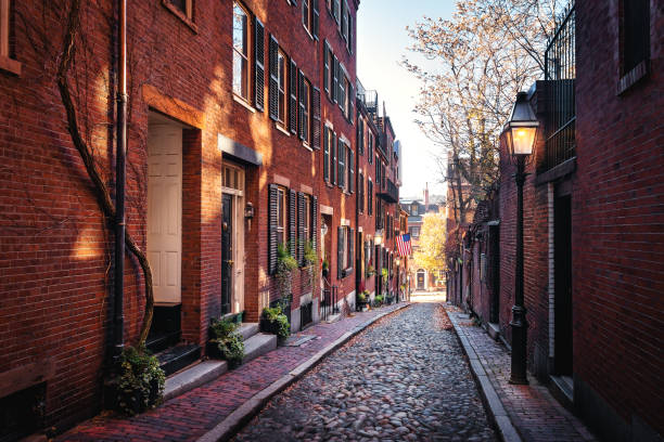 Acorn Street-Boston, Massachusetts, USA – Foto