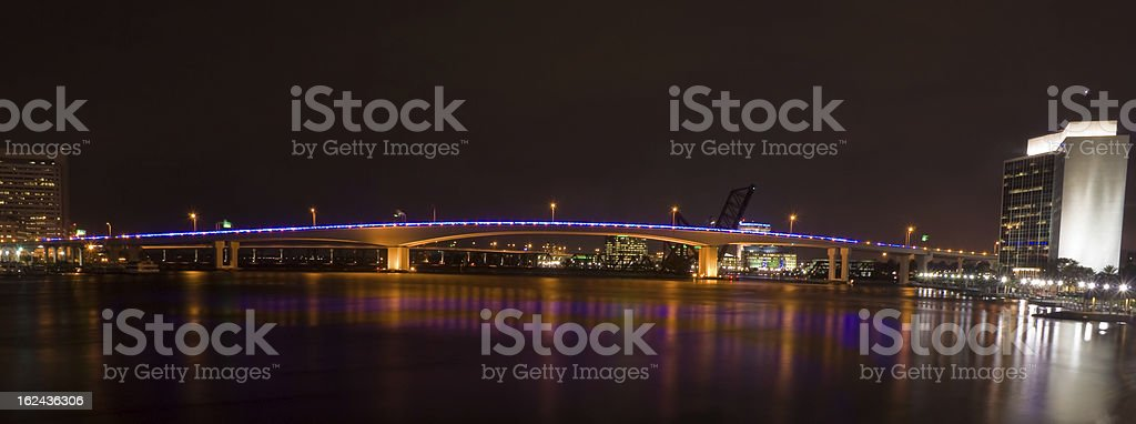 Acosta Bridge over the St. Johns River in Jacksonville, Florida royalty-free stock photo