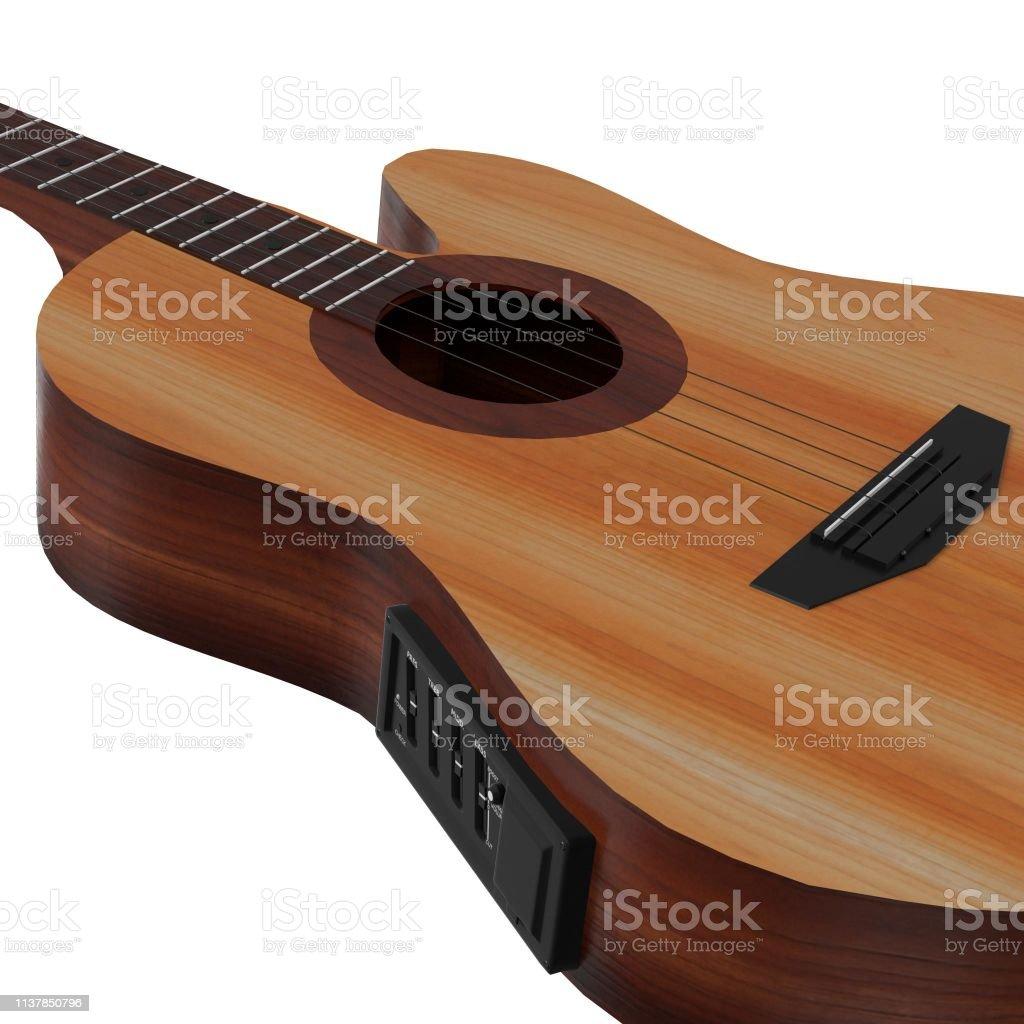 Acoustic bass guitar - foto stock