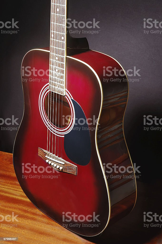 Acoustic classical guitar royalty-free stock photo
