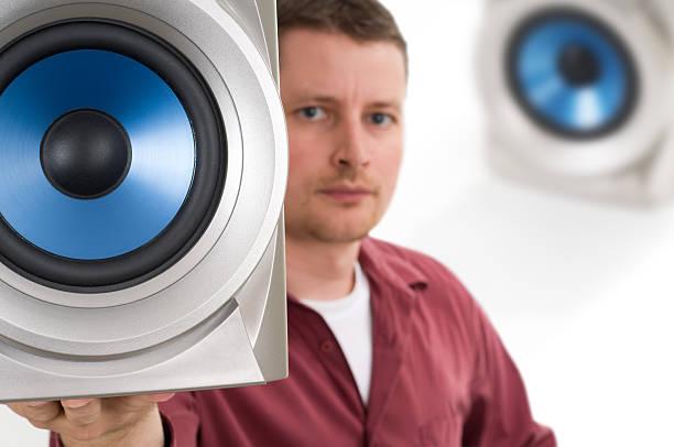 akustische engineer - godfriededelman stock-fotos und bilder