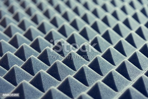 istock Acoustic foam panel background 886638986