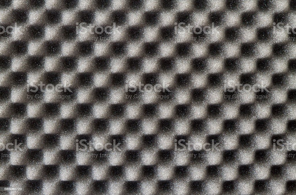 Acoustic foam stock photo