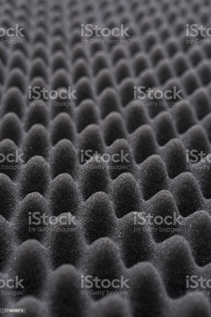 Acoustic foam wall stock photo