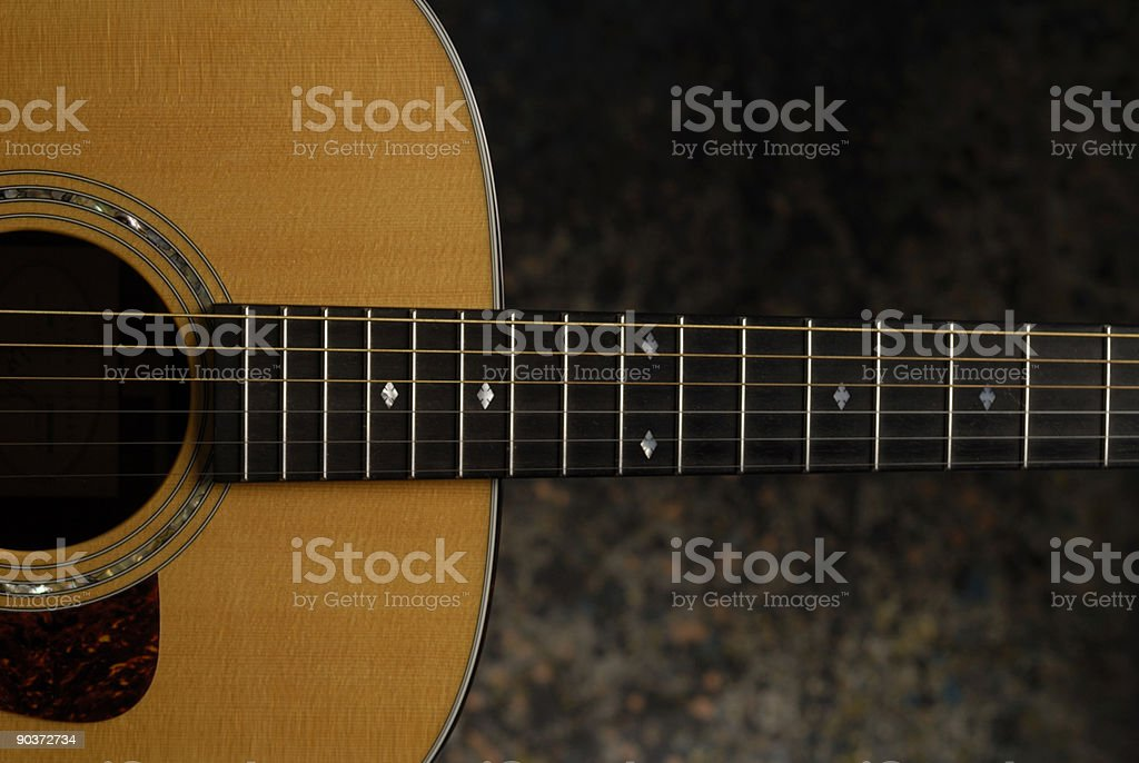 Acoustic Guitar 6 string stock photo