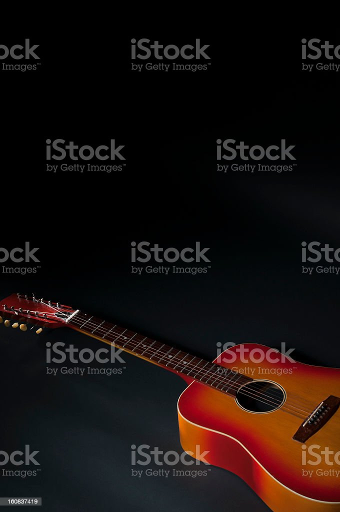 Acoustic Guitar Black Background Stock Photo More Pictures Of