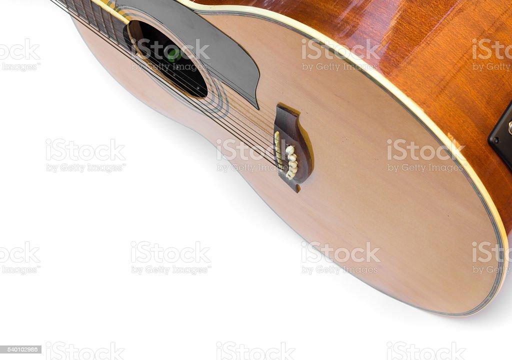 Acoustic guitar body stock photo