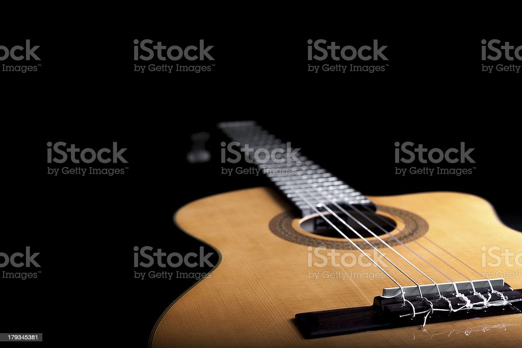 Acoustic Guitar Close Up VI stock photo