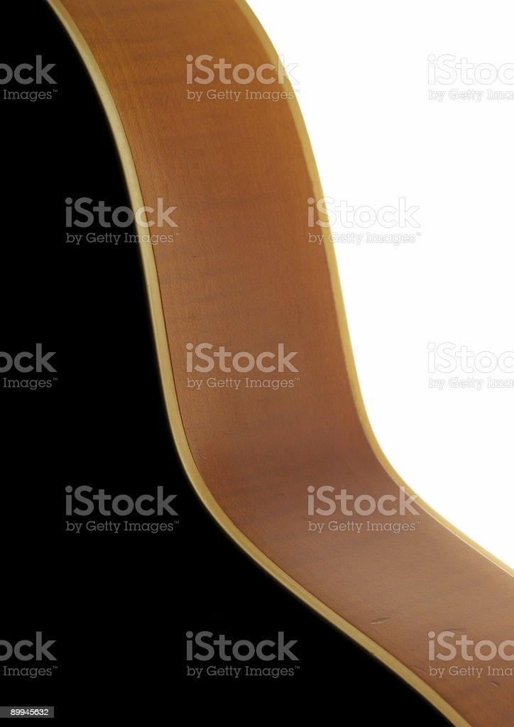 acoustic guitar curves royalty-free stock photo