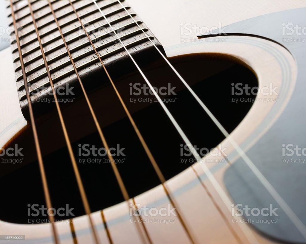 Acoustic Guitar Details stock photo