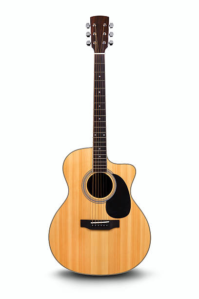 Acoustic guitar is isolated on the white – Foto