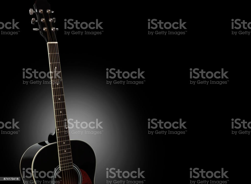Acoustic Guitar Isolated On A Black Background Stock Photo More