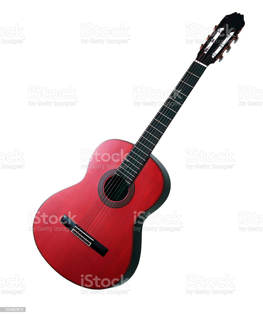 Acoustic Guitar Isolated on white background royalty-free stock photo