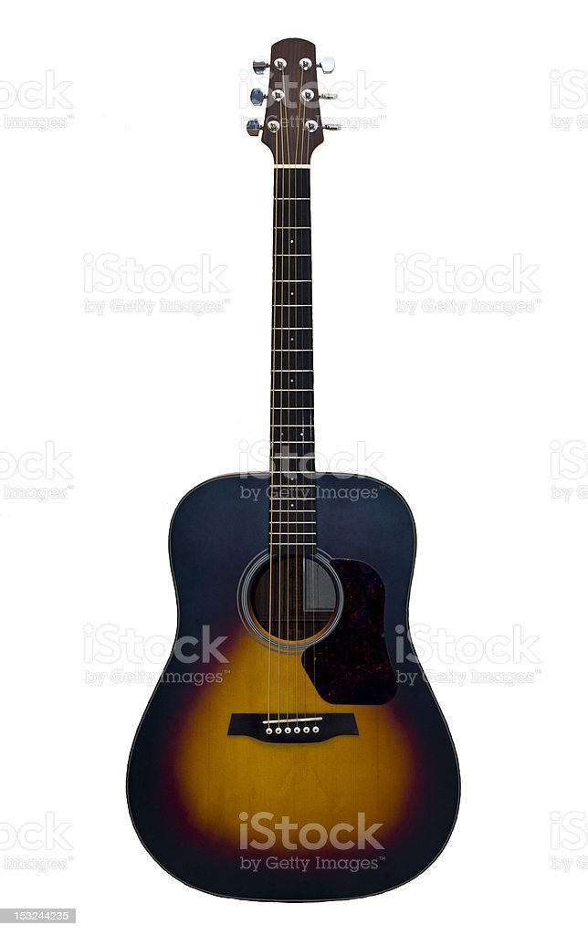 Acoustic Guitar Isolated On White Background Stock Photo More