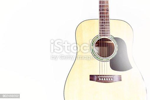1014432572istockphoto Acoustic guitar isolated on white background . 902459202