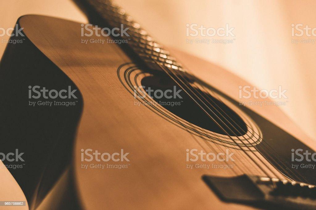 akoestische gitaar - Royalty-free Acoustische muziek Stockfoto