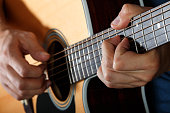 istock Acoustic guitar player performing song 471270330