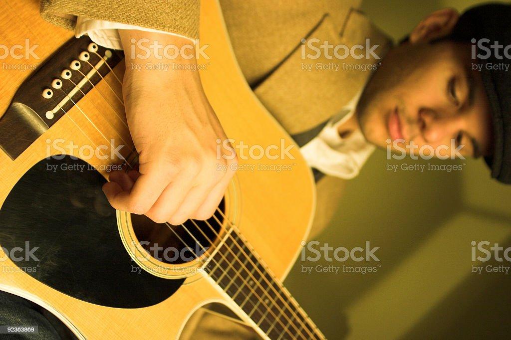 Akustikgitarre-Player Lizenzfreies stock-foto