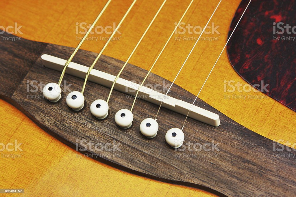 Acoustic Guitar Strings Musical Instrument stock photo
