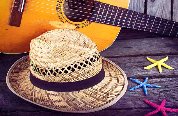 Acoustic guitar summer background