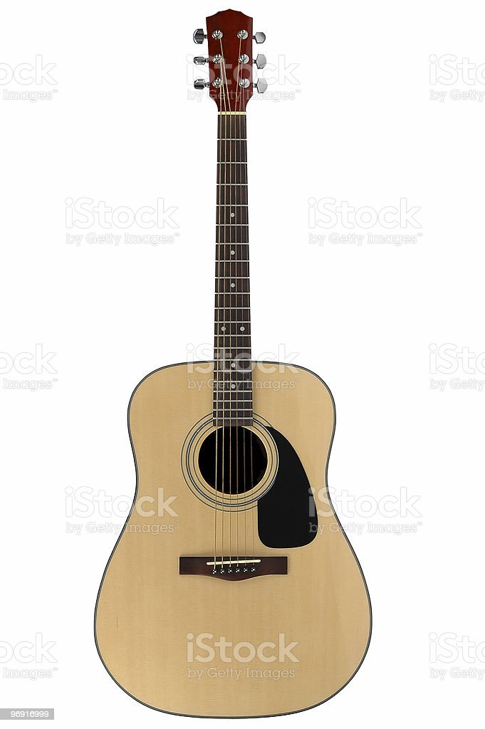 Acoustic guitar with clipping path royalty-free stock photo