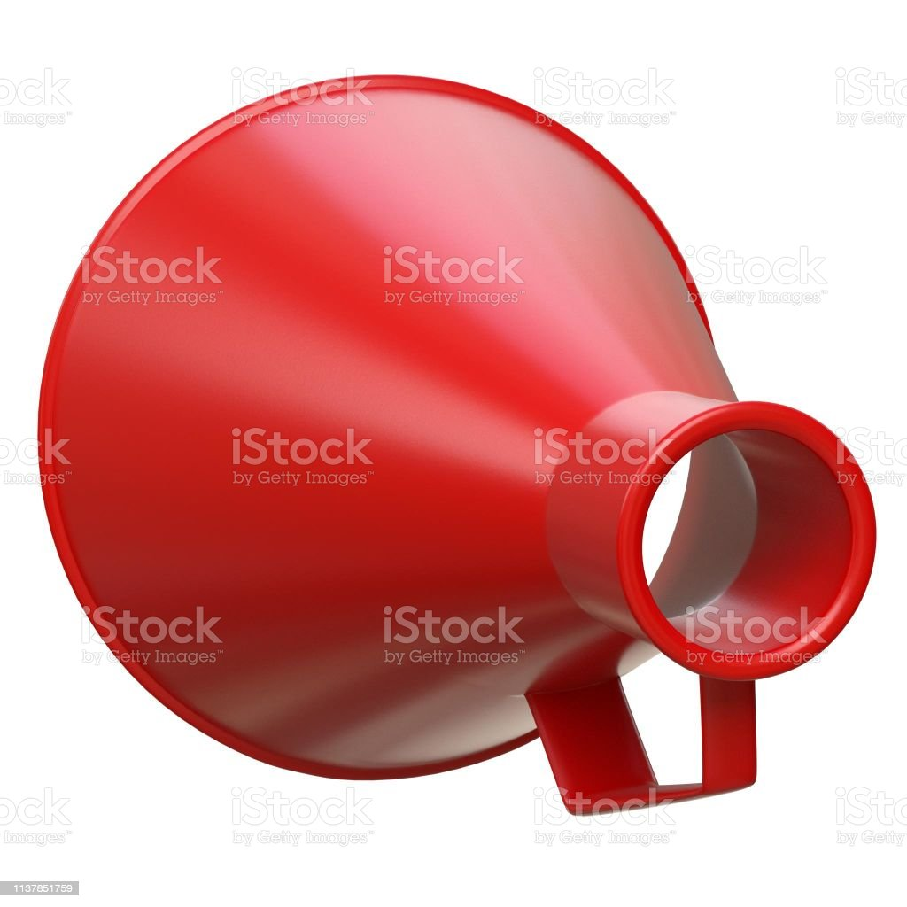 Acoustic megaphone 2 - foto stock