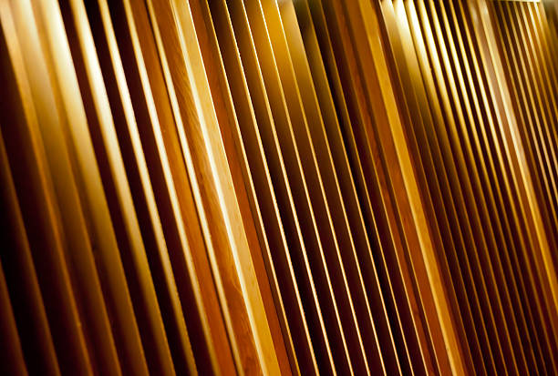 Acoustics - a reflection of sound stock photo