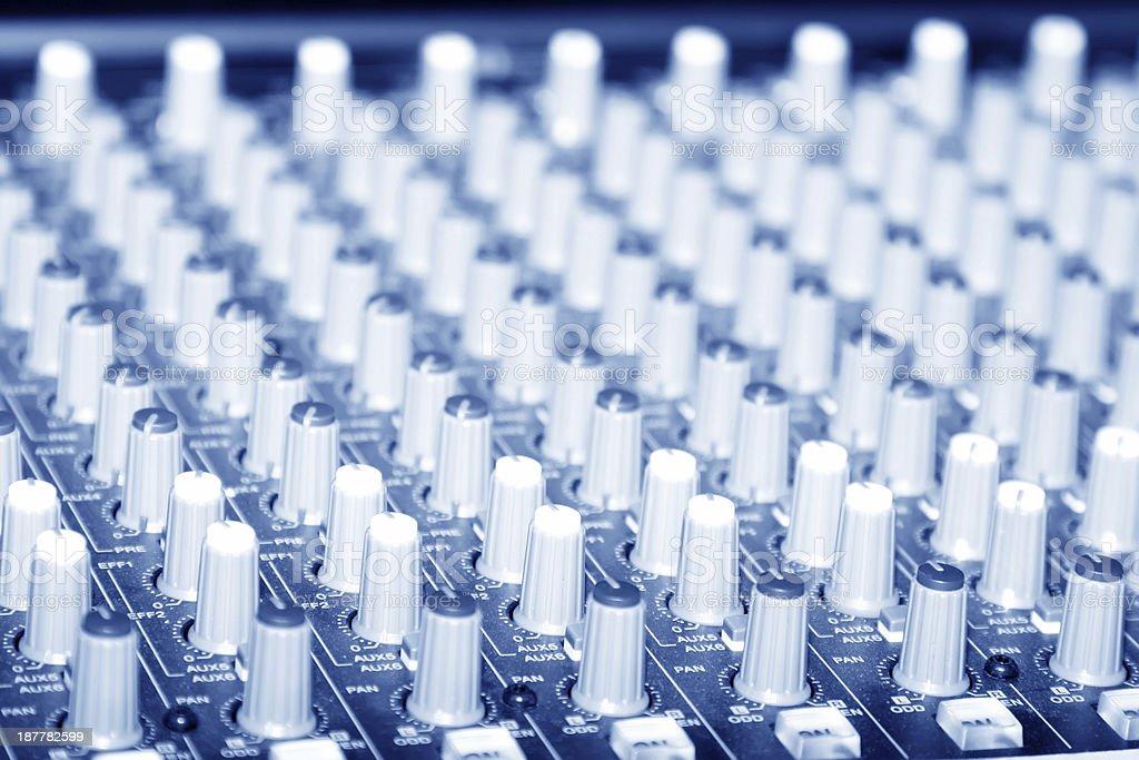 acoustics knob stock photo