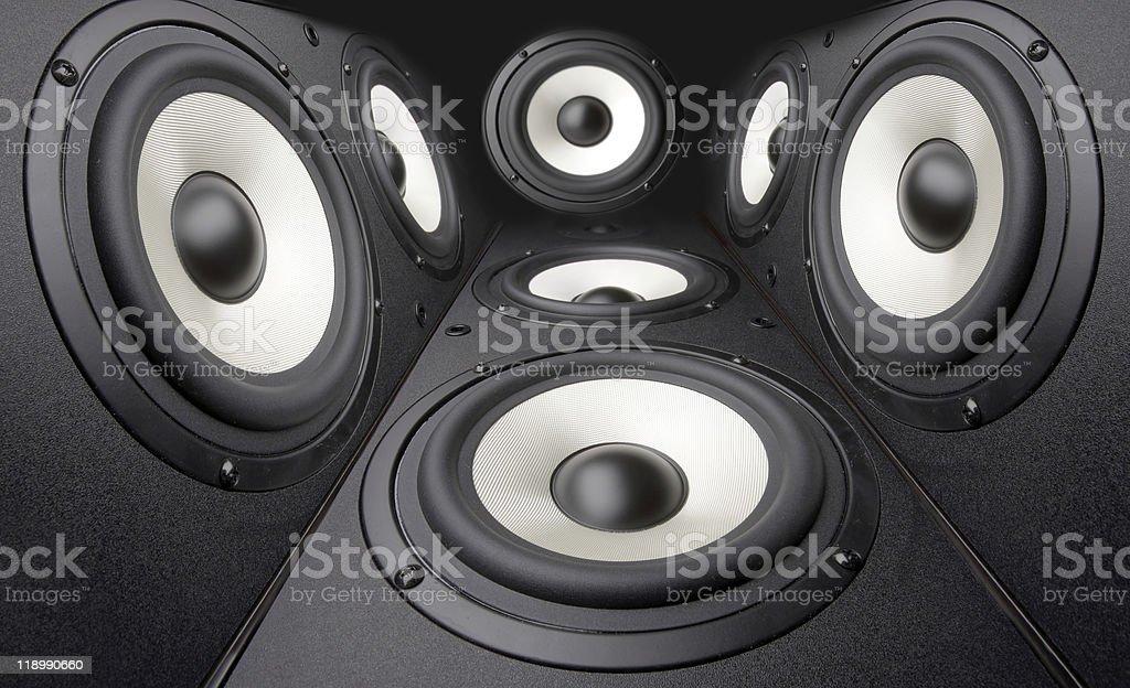 Acoustics systems stock photo