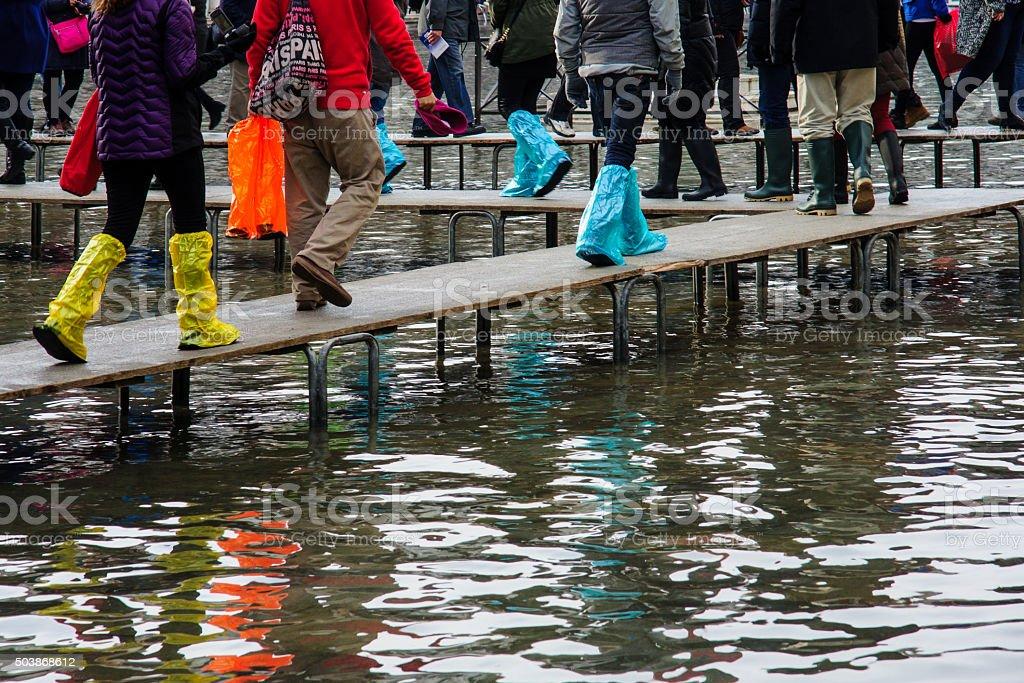 Acqua Alta, Venice stock photo