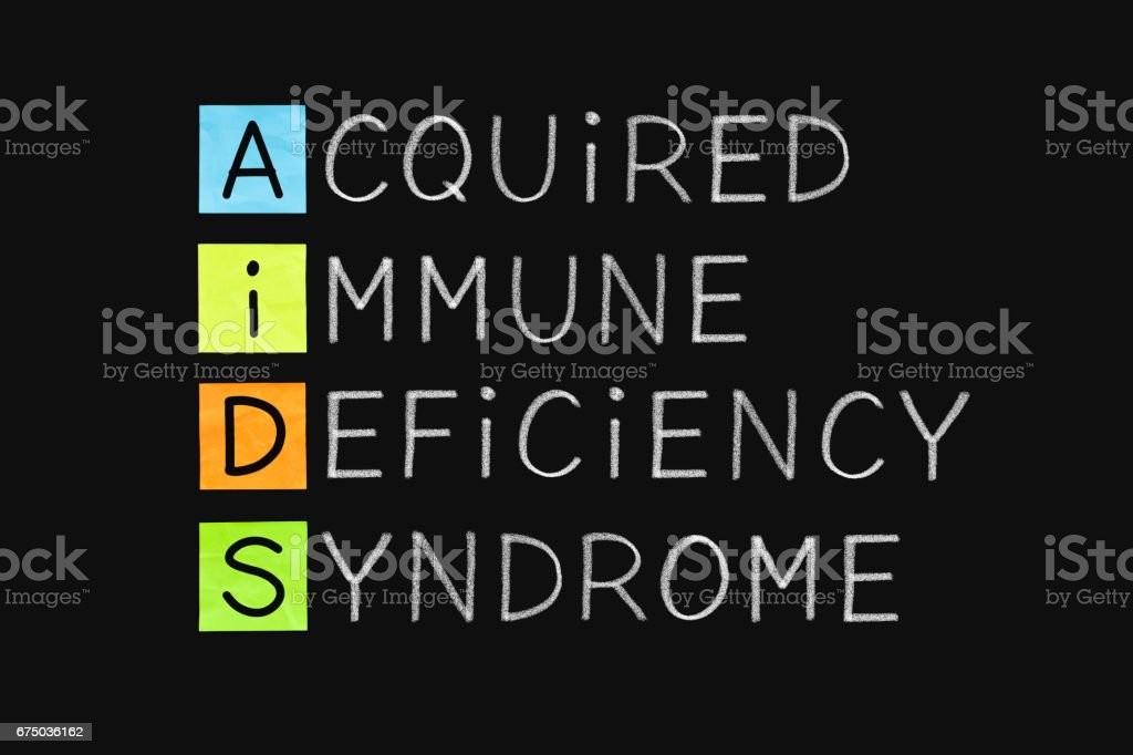 Acquired Immune Deficiency Syndrome AIDS stock photo