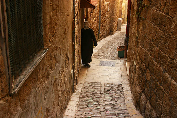 Acre old city stock photo
