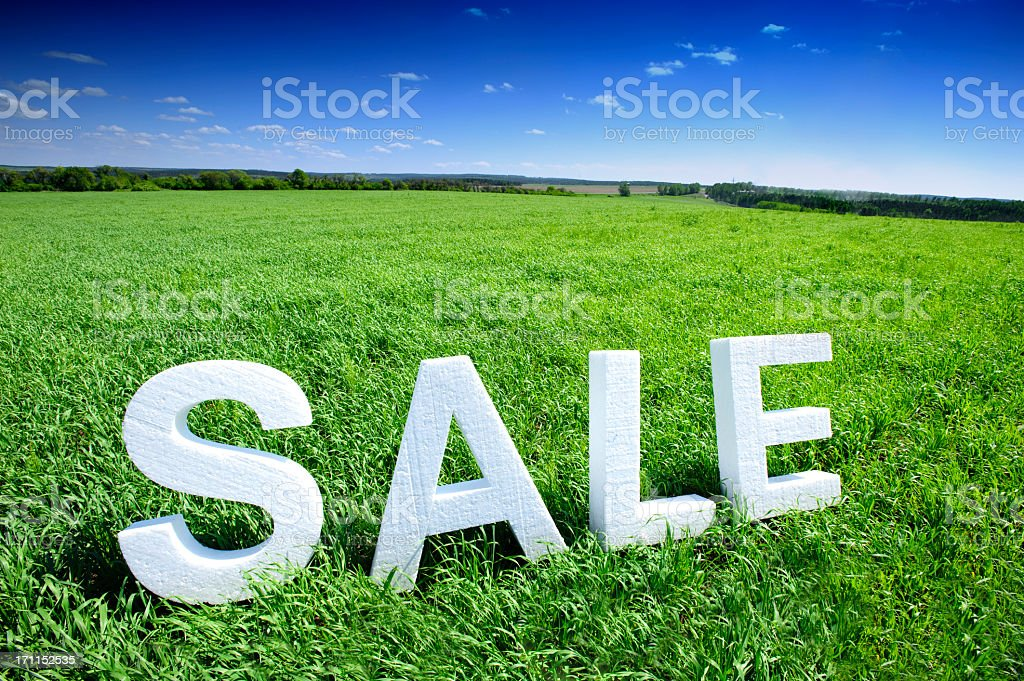 Acres For Sale stock photo