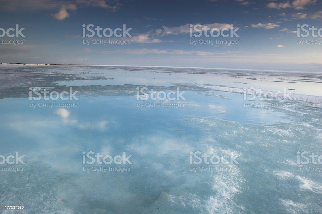 Acric Ocean from air stock photo