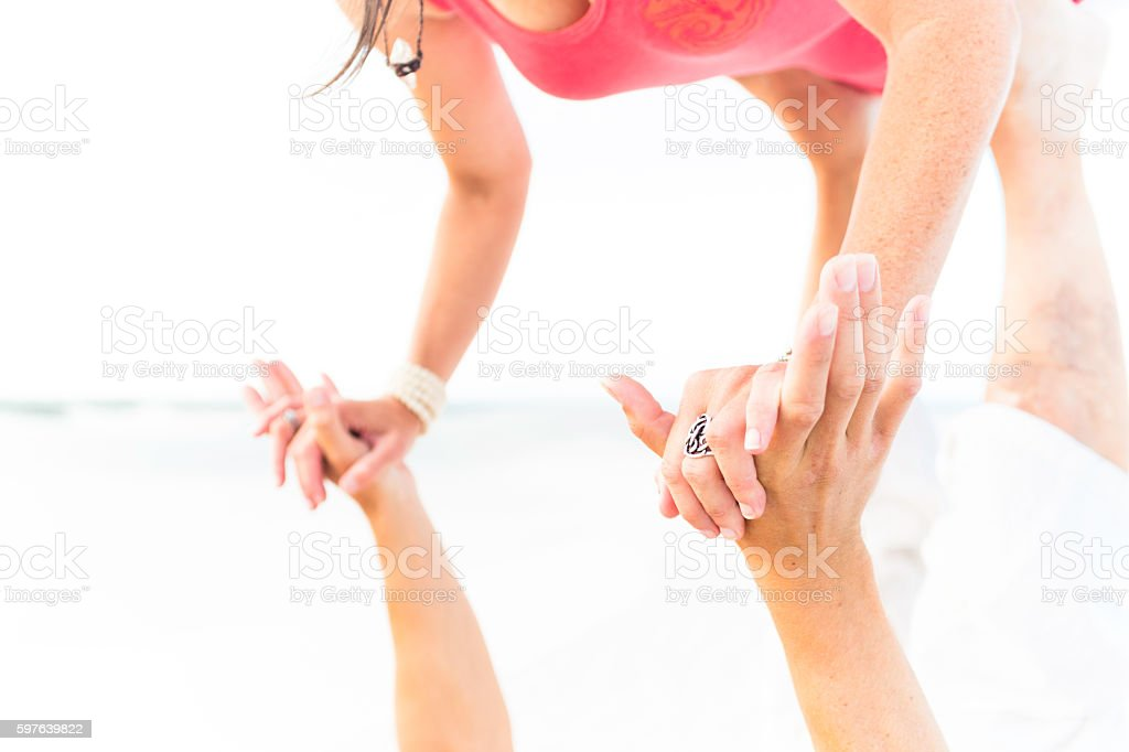 acro yoga supporting hands stock photo more pictures of acroyoga
