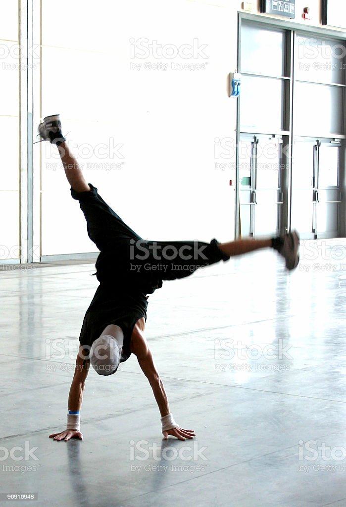 acrobatic breakdancer 3 royalty-free stock photo