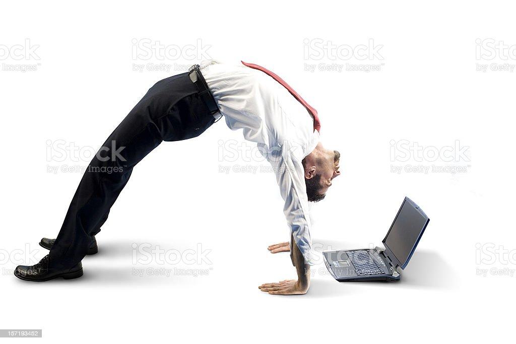 Akrobatische business Lizenzfreies stock-foto