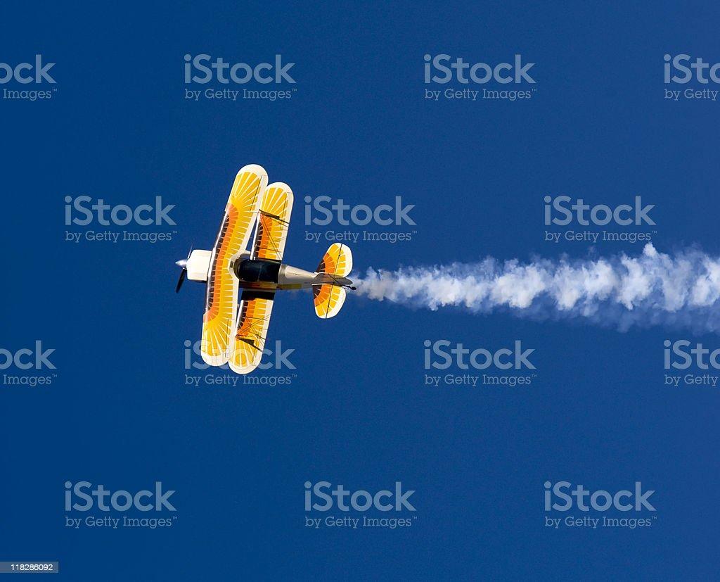Acrobatic Plane in Flight royalty-free stock photo