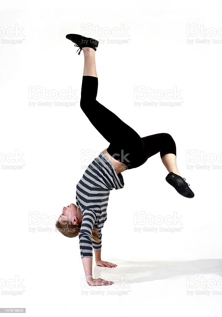 Acrobatic stunt royalty-free stock photo