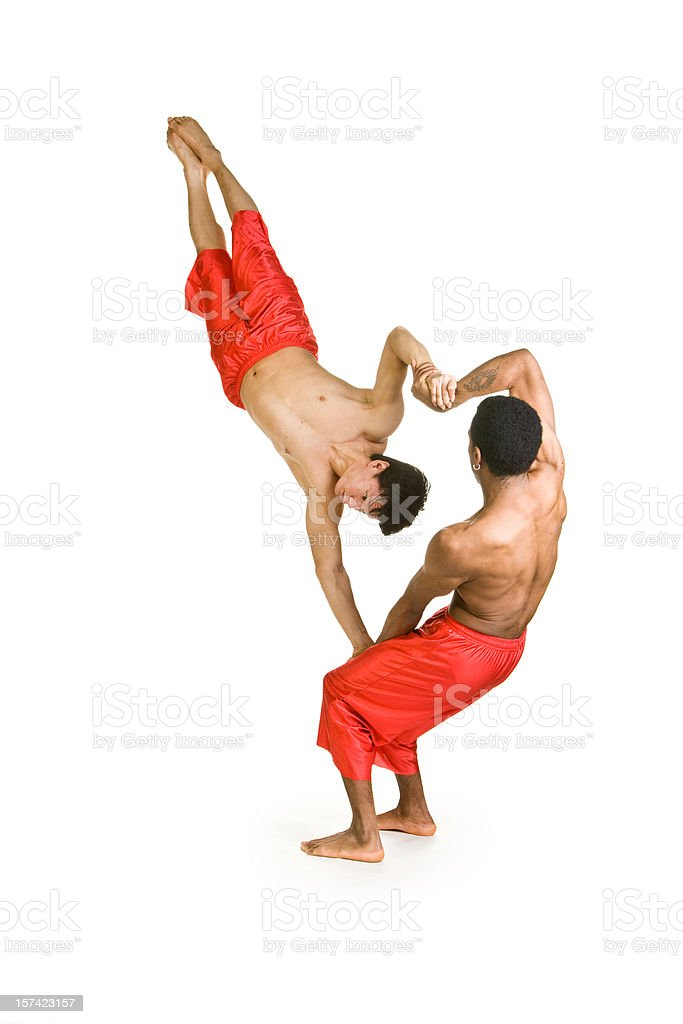Acrobats royalty-free stock photo